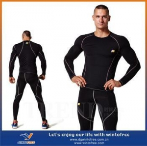 China sports wear fitness wear mens compression apparel custom compression wear on sale