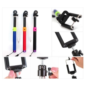 China Wired Selfie Stick with fluted tube shutter button,Selfie Stick Wired,Selfie Stick With Wired Remote on sale