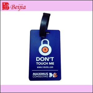 China fashion design silicone luggage tag for travel on sale