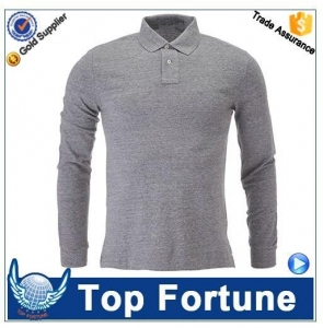 China professional high quality long sleeve polyester men polo shirt on sale