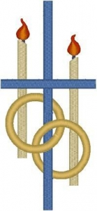 China Christian Embroidery Designs Wedding Rings & Cross #2 on sale