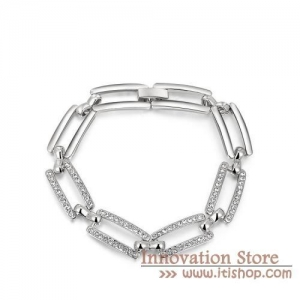 China Hippie 18K White Gold Filled Square Hipanema Bracelets Bangles on sale