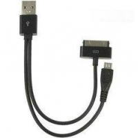2-in-1 usb cable sync V3/ iphone/ipad/ipod/mp3 player