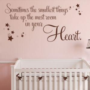 China Sometimes the Smallest Things Take Up the Most Room in your Heart ~ Wall sticker Quote / decals on sale