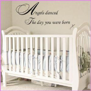 China ANGELS DANCED THE DAY YOU WERE BORN BABY NURSERY WALL ART~ Wall sticker / decals on sale