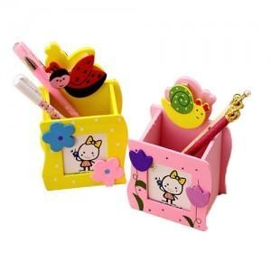 China Creative wooden pen pot on sale