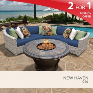 China New Haven New Haven 4 Piece Outdoor Wicker Patio Furniture Set 04d on sale