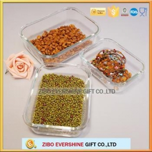 China Airtight glass crisper lock fresh glass food container with lifted lid on sale