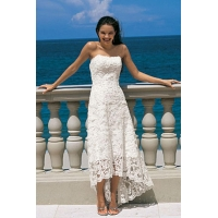 Beach Sheath/column Asymmetrical Sweetheart Wedding Dress