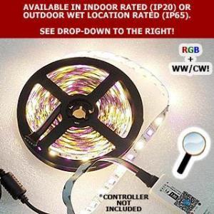 China Brightest 4.4W / Foot 12V or 24V DC 5050 SMD RGBW Tape Light on sale