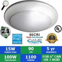 China 15 Watt 1100 Lumen 6 Faux Can LED Recessed Retrofit / Downlight on sale