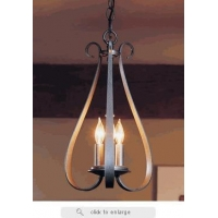 China 10-1473 Hubbardton Forge Sweeping Taper Three Light Chandelier on sale