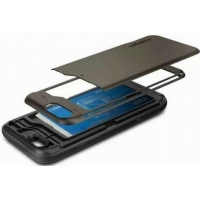 PC Crystal Case armor card slot case for iphone 6/plus