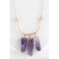 Necklaces Accent Stone Necklace-Purple