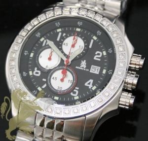 China 1.00ct Mens Richard & Co Genuine Diamond Watch multi-link Sport on sale