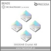 China Preciosa MC Rondelle Beads Crystal AB Glass Stone Art.45169302 on sale