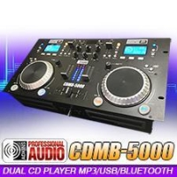 China Adkins Pro Audio CDMB-5000 Dual CD Bluetooth MP3 USB Player with Mixer on sale