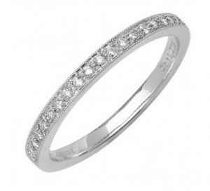 China 9ct White Gold Diamond Half Eternity Ring 0.12ct on sale