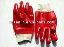 China Cotton glove Cotton Interlock Knit-wrist PVC Glove on sale