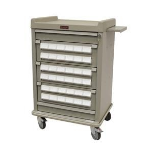 China Patient Bin Cassette Medication Cart, Med Cart with 36 Locking Bins #AL36CS-3 on sale