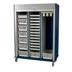 Preconfigured Triple Column Medical Storage Cart with Tambour Door #MS8160-CYSTO