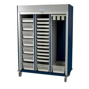 Quality Preconfigured Triple Column Medical Storage Cart with Tambour Door #MS8160-CYSTO for sale