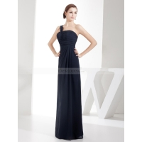 Sheath/Column Banana/Rectangle Natural Fall Floor Length Long Bridesma