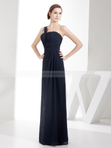 China Sheath/Column Banana/Rectangle Natural Fall Floor Length Long Bridesma on sale