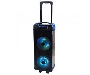 China Portable pa speaker trolley dancing speakers disco light speaker KLS-0027 on sale
