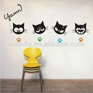 China Cat decorative removable wall stickers on sale