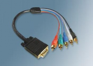 China Molded Cables HD D-SUB 15 PIN Male to RCA Male on sale