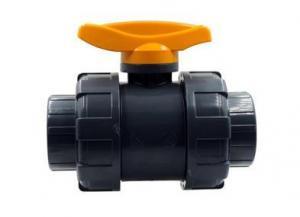 China PVC double true union ball valve small size on sale