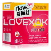 China I loves Sex 50 pcs / lot Men Ultra-thin Condoms Natural Latex Adult Product Sealed on sale
