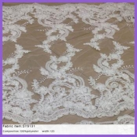 polyester mesh fabric One-deck layer african french net lace for wedding