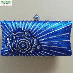 China Wholesale customized blue all-match clutch purse Model: Aysemo-navy bag-G0815B on sale