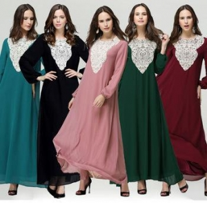 China China manufactory supply plus size lace muslim women prayer clothing MSL0023 on sale