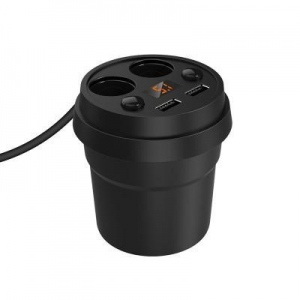 China Car Cup Charger with 2-Socket Cigarette Lighter on sale