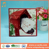 China Handmade Card Wholesale Simple Decorative Merry Christmas Greeting Cards on sale