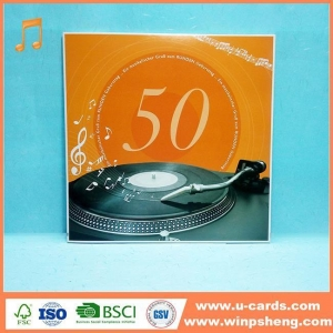 China Handmade Card Free Music Ecards Greeting Cards With Music Download MP3 File on sale