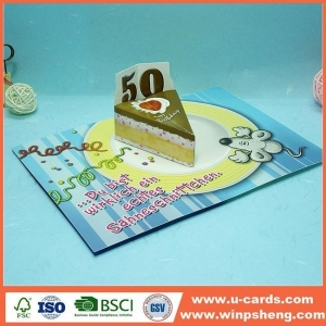 China Handmade Card Popular Pop Up 3d Birthday Greeting Cards Making on sale