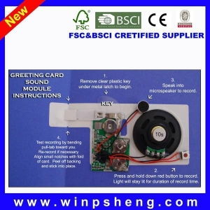 China Handmade Card Greeting Card Recordable Recorder Sound Chip on sale