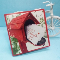 China Handmade Card Talking Merry Christmas Message Greeting Card on sale