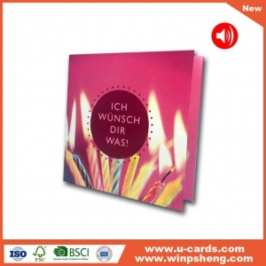 China Handmade Card Our Voice Recording Birthday Greeting Cards on sale