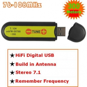 China USB FM transmitter wireless sound card stereo 7.1 channel 300meters on sale