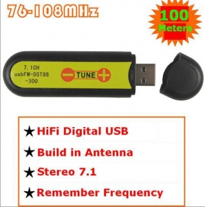 China USB FM transmitter wireless sound card stereo 7.1 channel 100meters on sale