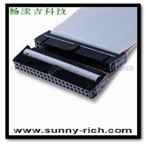China FLAT CABLE IDC Socket Connector Series Flat CD-ROM Cable Assembly with 40 Pin on sale