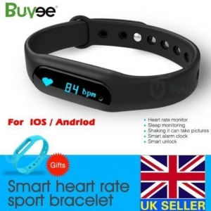 China OLED Bluetooth Smart Watch Wristband Bracelet Heart Rate Pedometer Fitness Track on sale