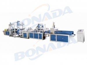 China HBL-D600/700/800 Automatic Non-woven Bag Making Machine with Online Puncher on sale