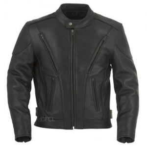 China Leather Motorcycle Jackets Men's Vented Racing Jacket on sale