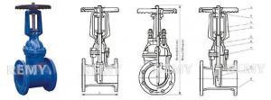 China RRHX rising stem resilient gate valves on sale